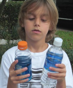 kid drinking gatorade
