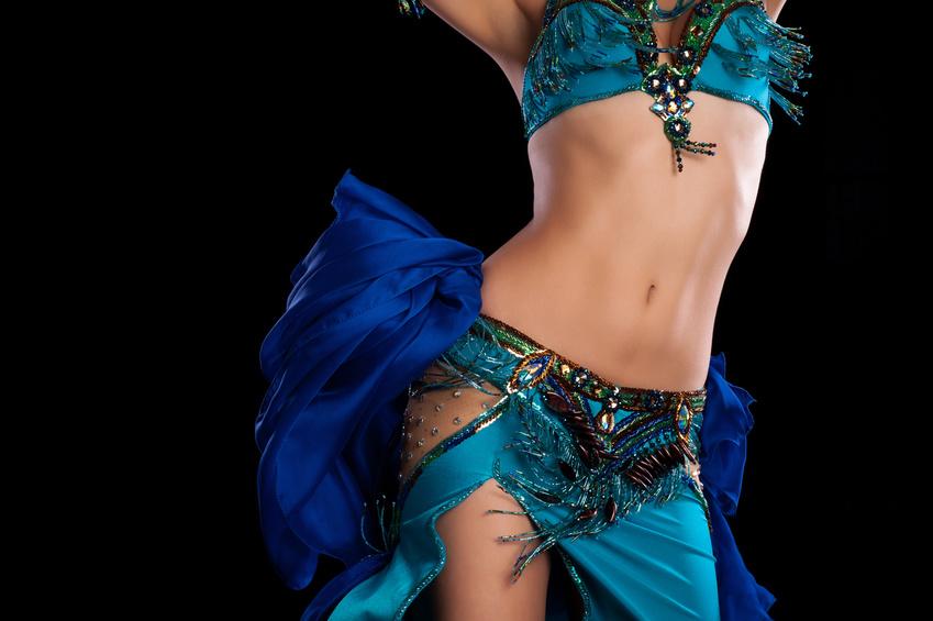 Torso of a  Bellydancer Shaking her Hips